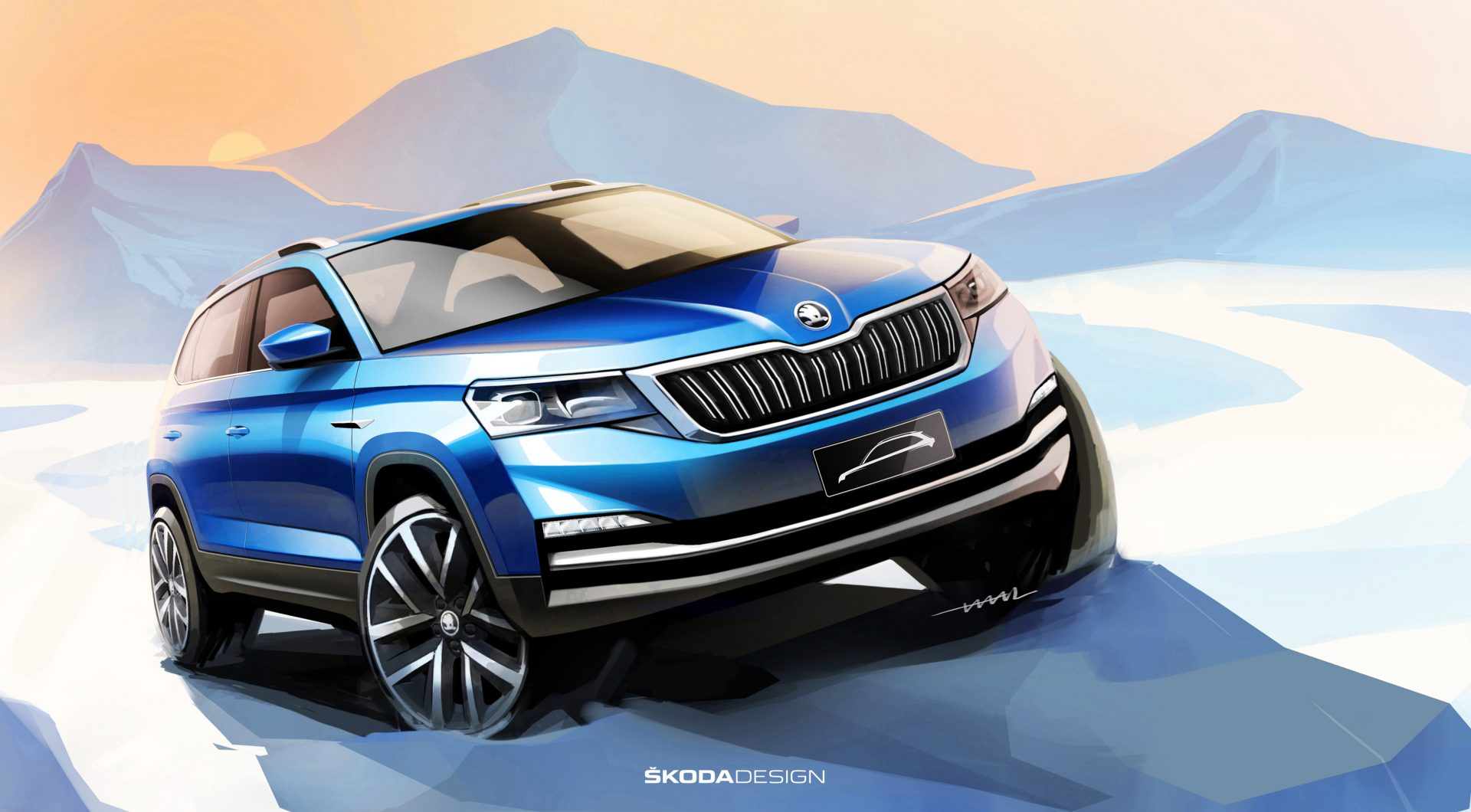 A NEW ŠKODA FOR CHINA – FIRST SKETCHES OF THE MAINSTREAM CITY SUV