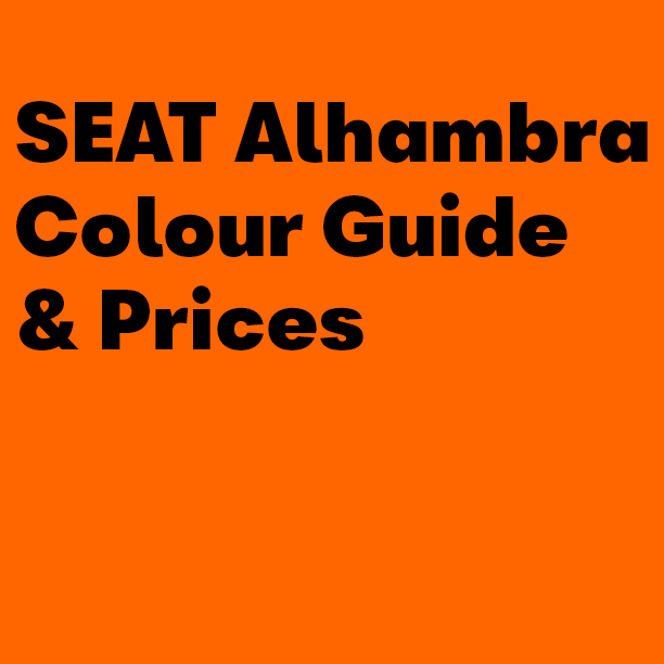 SEAT Alhambra Colour Guide & Prices