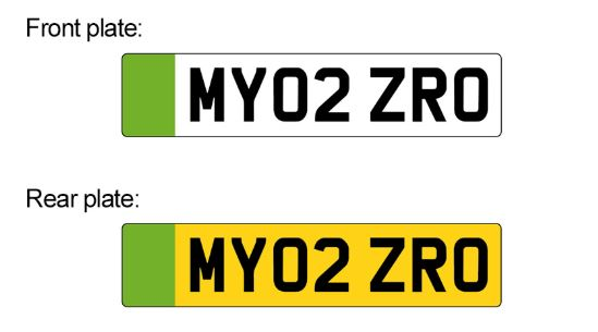 Green Number Plates for 'Zero Emission Vehicles'