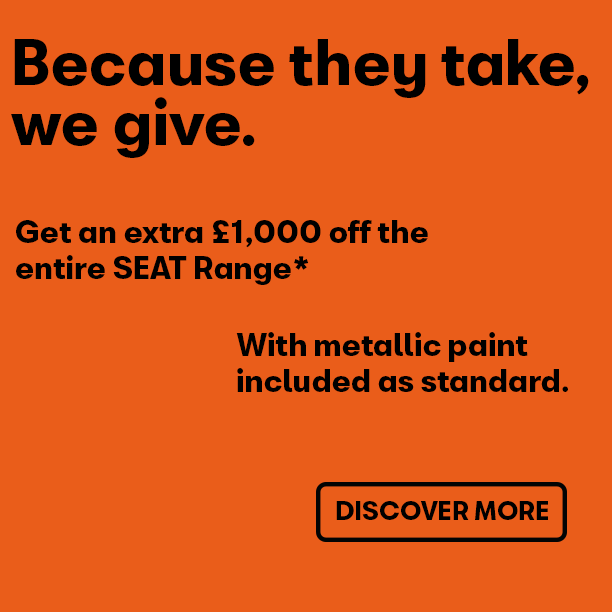 EXTRA £1,000 off on top of SEAT New Car Offers