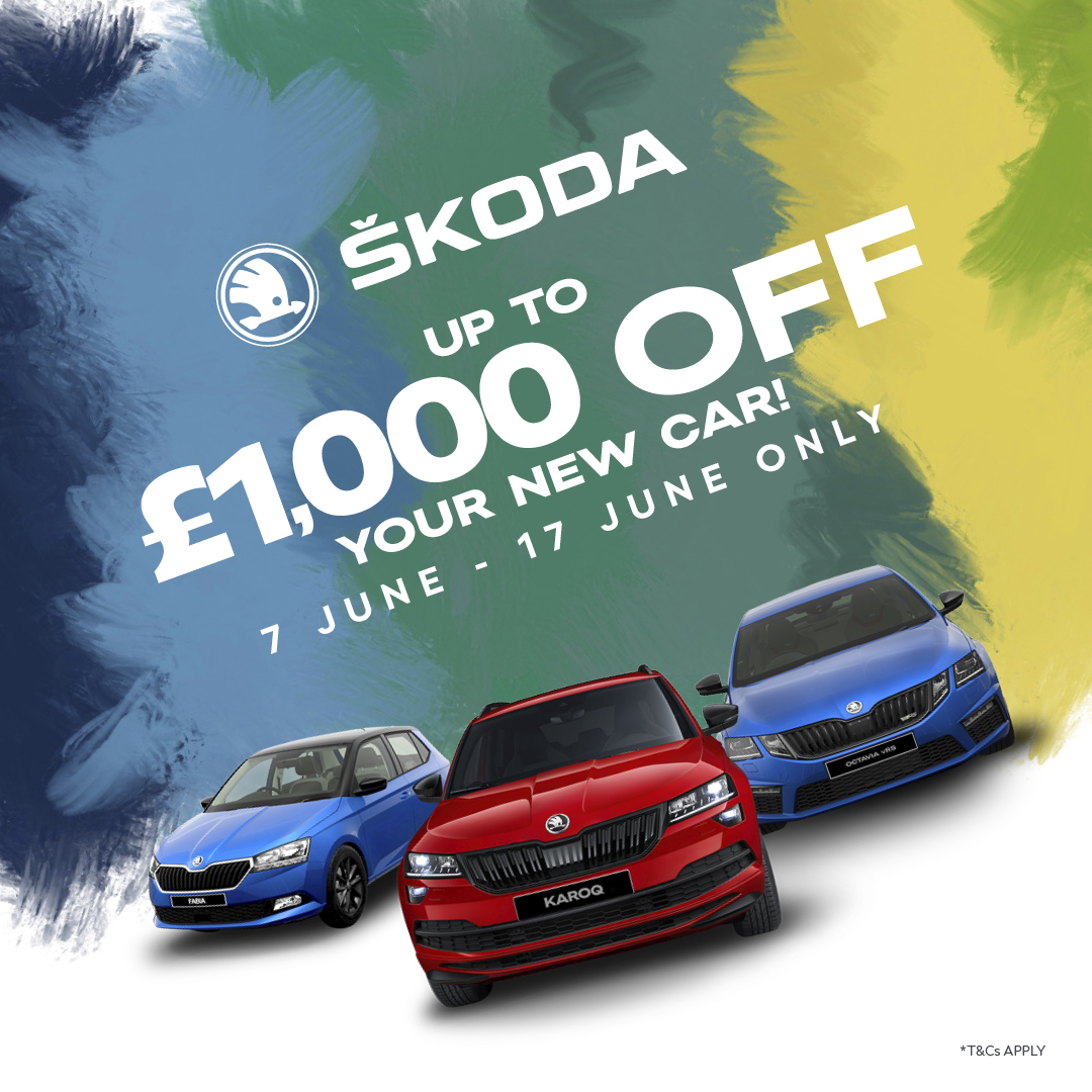 Up to £1,000 off your Brand New ŠKODA