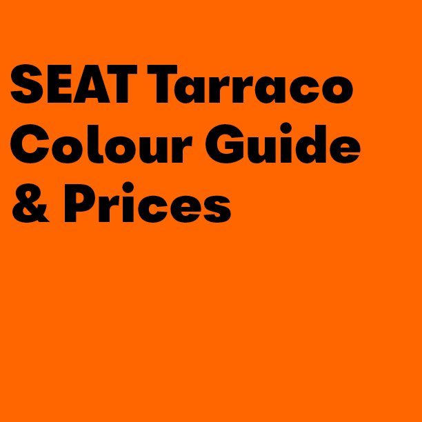 SEAT Tarraco Colour Guide & Prices