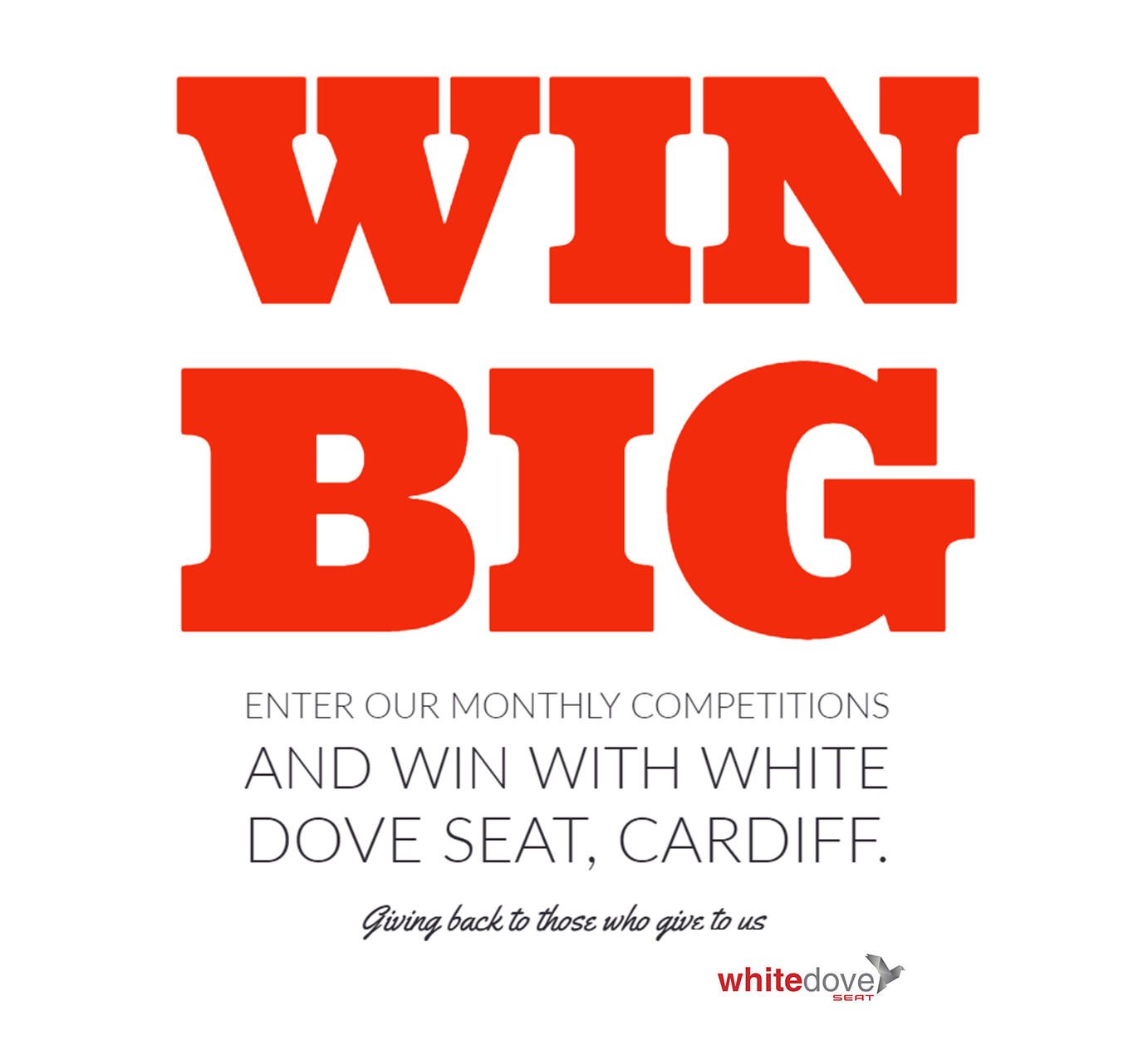 COMPETITIONS WITH WHITE DOVE SEAT, CARDIFF