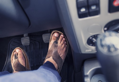 Drivers wearing Flip Flops risk fine